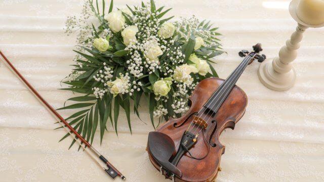 花とバイオリン