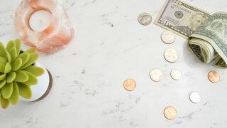 お金と観葉植物