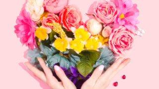 ハート花束