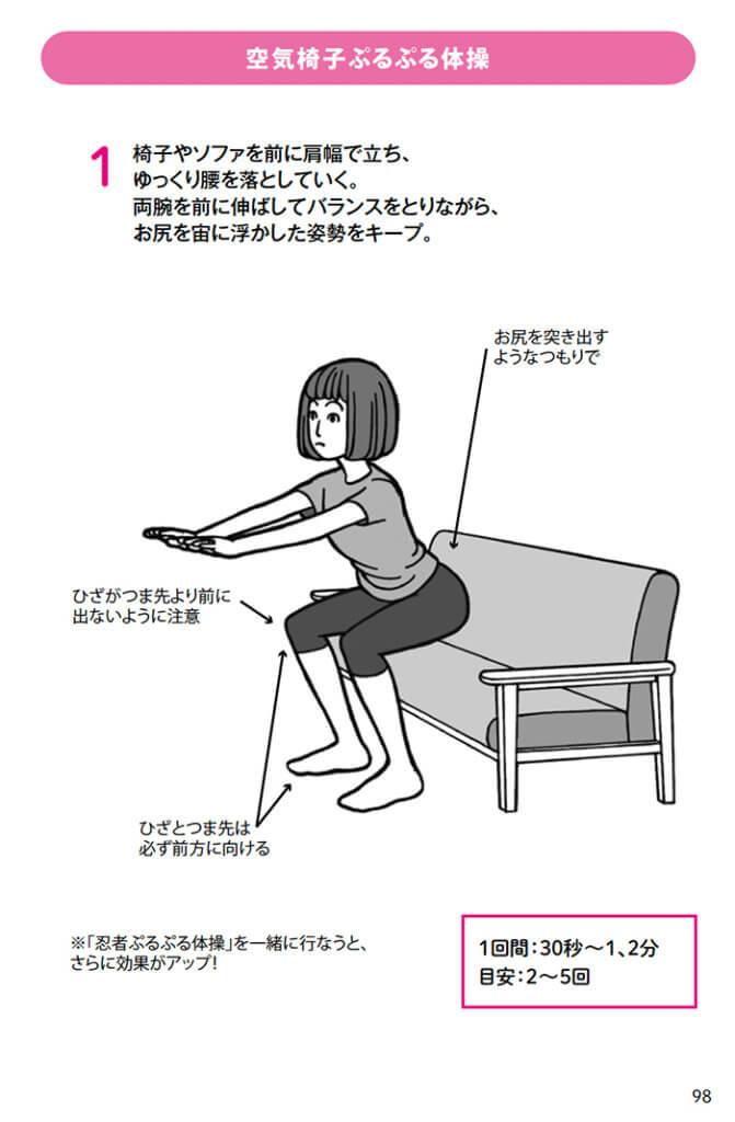 空気椅子ぷるぷる体操
